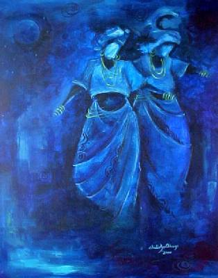 This is Blue Dance, a print from artist, Chidi Okoye.